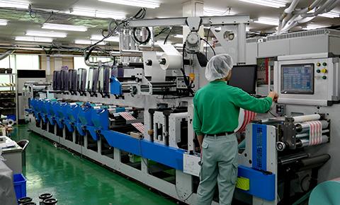 UVフレキソ輪転印刷機イメージ